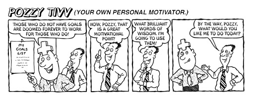 Motivational cartoon strip - Brilliant words of wisdom