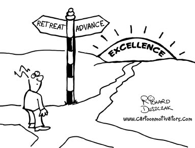 Cartoon Motivator - road to excellence