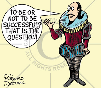 Cartoon of Shakespeare