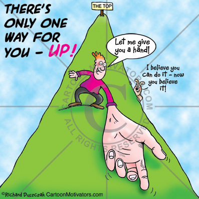 GiveHandUp Motivational cartoon   Let Me Give YOU A Hand Up!